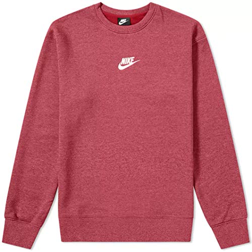 Nike Herren M NSW Heritage CRW Long Sleeved T-Shirt, rot (Red Crush/Heather/(Sail)), L