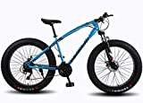 WANG-L 24/26 Inch Mountain Bikes Snowmobile 4.0 Widened Big Tire Variable Speed Fat Tire Bike Shock Absorption...