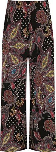 Plus Size Women's Flared Paisley Pattern Palazzo Pants, Sizes 12 to 26