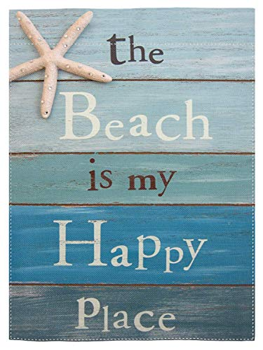 pingpi The Beach is My Happy Place Garden Flag Home Decorative Outdoor Double Sided Yard Flag 12.5'x18'