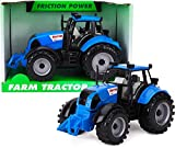 Trattore agricolo motorizzato con attrito 22cm x 12cm Toyland con Cofano apribile - Blu