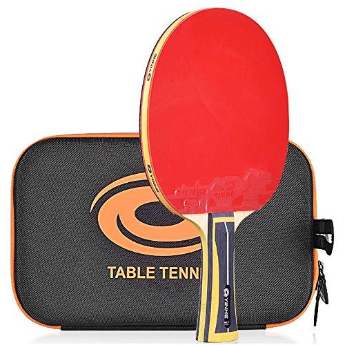 Lerten Palas de Ping Pong,Bate de Tenis de Mesa Entrenamiento Profesional Raqueta de Carbono de 11 Estrellas con Bolsa de Almacenamiento,Jugar en Interiores Y Exteriores/A/mango largo