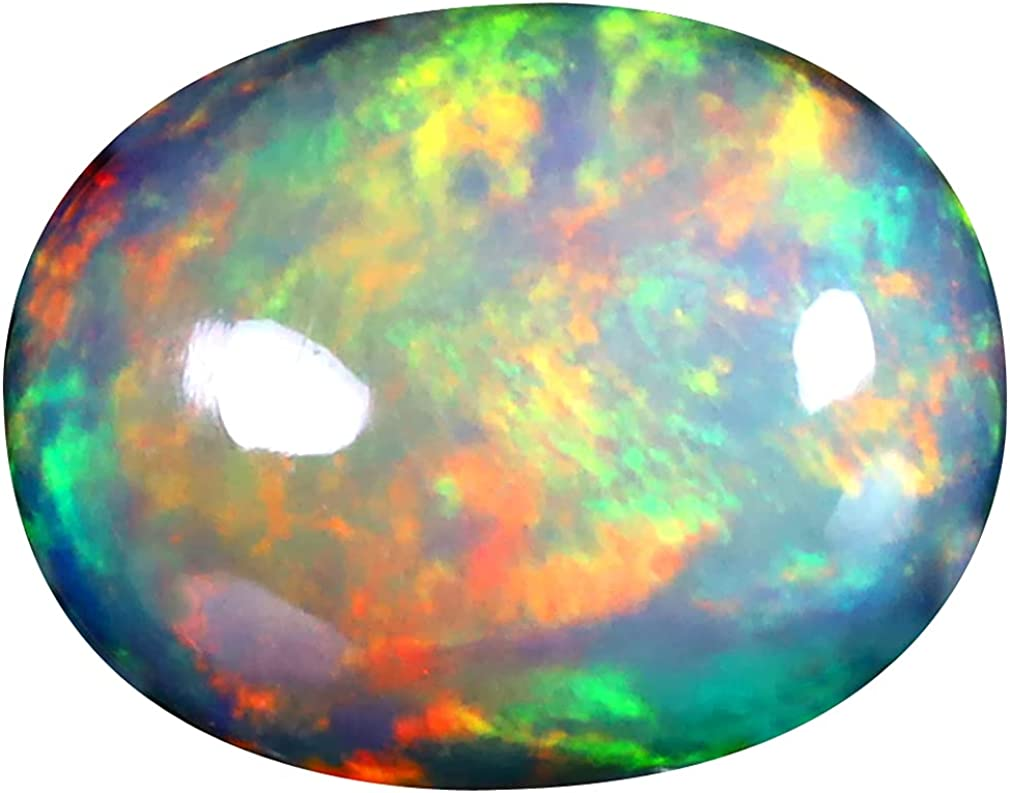 2.88 Beauty products ct OVAL CABOCHON 12 X Mail order cheap 10 ETHIOPIAN DEGREE FLASHING mm 360