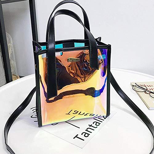 fllyingu Transparente Handtasche Für Frauen, PVC Transparente Tragetaschen, Große Kapazität Candy Farbe Taschen Transparente Umhängetasche, Jelly Bag Tote Mit Kleinen Innentasche