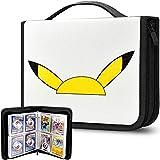 Álbum de 480 hojas de cartas, compatible con tarjetas de Pokemon Trading Cards, funda organizadora para M.T.G, C.A.H, Yu-Gi-Oh/Baseball y más tarjetas de juego, color blanco