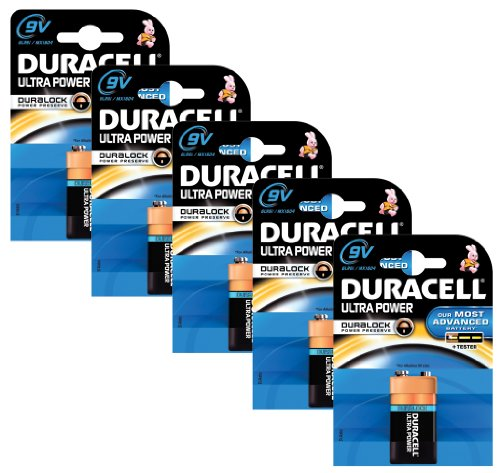 Duracell MX1604-X5 Pack de 5 Piles 9V