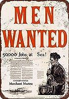 男性募集、ブリキサインヴィンテージ面白い生き物鉄の絵画金属板ノベルティ