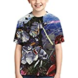機動戦士ガンダム (1) Tシャツ ファッション 子供のtシャツ ゆったり 男の子 女の子 半袖 Tシャツ Boy T-Shirt 半袖シャツ 人気 柔らかい肌ざわり 3d アニメ プリント ティーシャツ 運動 Tシャツ 男女兼用 夏服