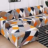 ASCV Fundas de sofá en Forma de L para Sala de Estar Material elástico sofá de Esquina Funda de Silla Funda de sofá sofá seccional A5 4 plazas
