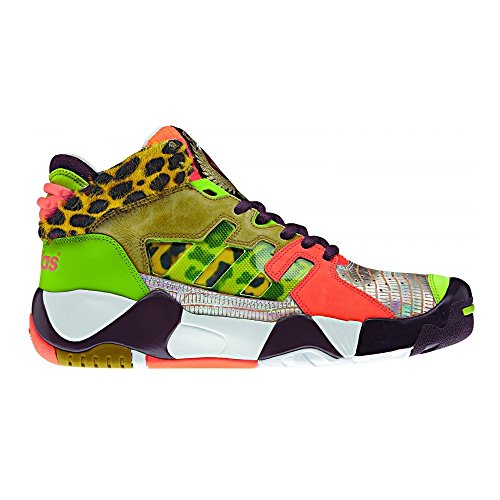 Adidas Obyo Jeremy Scott JS Streetball LTD - Sneaker colorate, Marrone (marrone), 44 2/3 EU