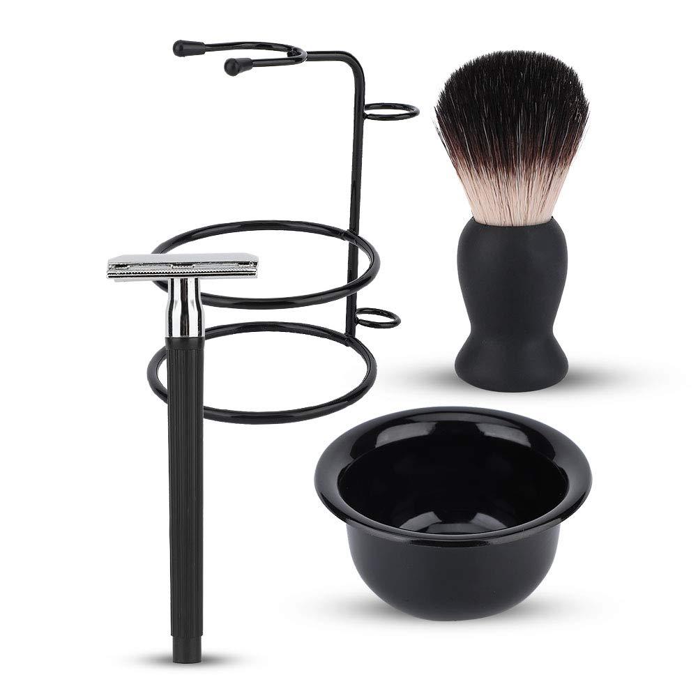 Men Max 42% OFF Beard Shaving Set Professional Safe Razor Brush 5 ☆ very popular Bowl Stand H