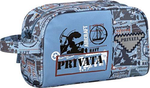 Privata Navy Travel Bag   Hand Luggage Organizer Adaptable to Backpack, Travel Bag with Large Capacity Pocket and Carry Handle - Measures 25 x 15.5 x 11