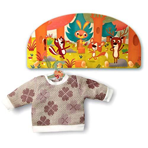 Dida - Porte-Manteaux Enfant – Animaux Qui Jouent dans la forêt - Porte Manteau Mural en Bois pour Chambres d'enfant et bébé
