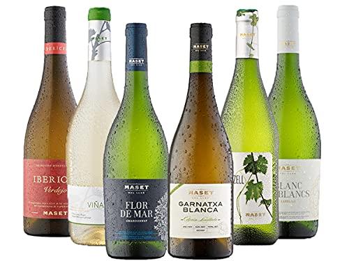 [Amazon限定ブランド] 冷やして爽やか&フルティー、辛口コクありまで6種揃ったスペイン白ワインセット (750...