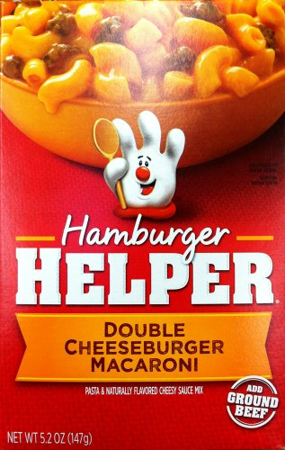 Betty Crocker DOUBLE CHEESEBURGER MACARONI Hamburger Helper 5.2oz (2 Pack)