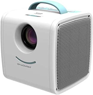 Wownect S1 Kids Mini Projector 30 Lumens Children Video Projector HD 1080P LCD Technology with Hi-Fi Speaker [Comes with A...