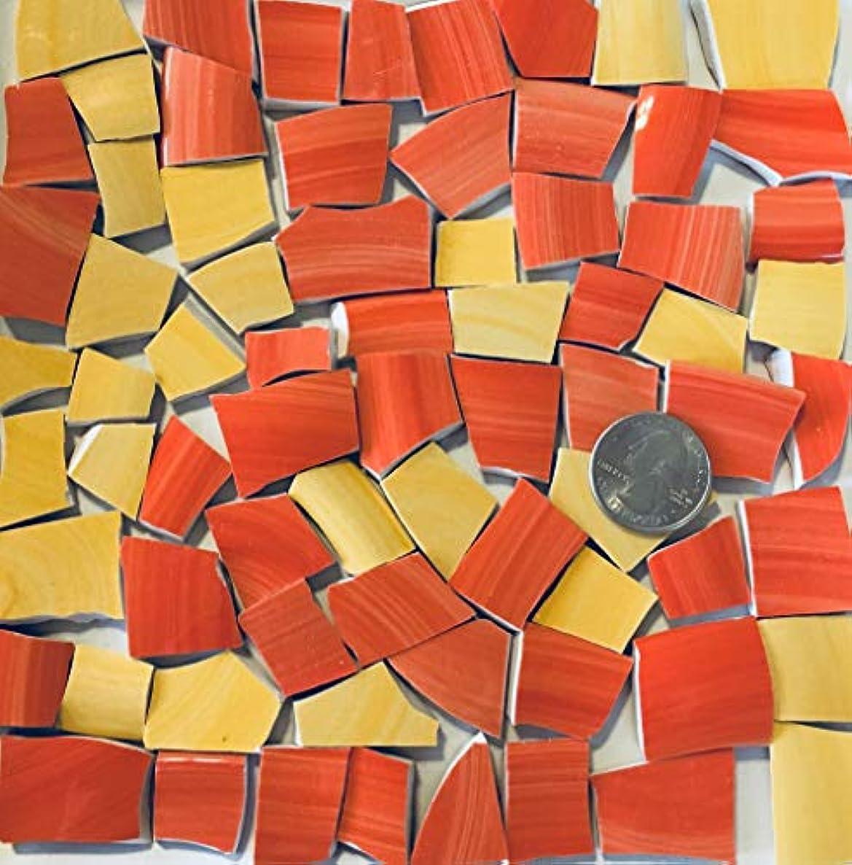 Mosaic Art & Crafts Supply ~ Yellow & Orange Tiles (B306)