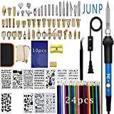 Wood Burning Kit, Junp Wood Burning Tool with Adjustable Temperature Soldering Iron, Professional Pyrography Kit for Embossing Carving Soldering Tips Upgrade