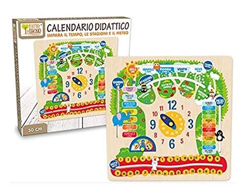 Teorema Calendario didattico in Legno, 40544