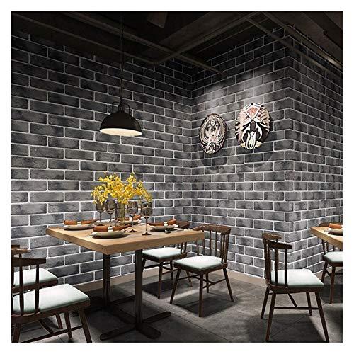 Papel De Pared 3D de fondo impermeable ladrillo retro del papel pintado rollo café del restaurante de la sala de estar de papel de pared de vinilo PVC decoración de la pared Papel De Pared Decorativo