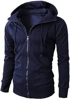 JJHAEVDY Mens Zip Sweatshirt Jackets Lapel Fleece Coat Winter Casual Cotton Outdoor Coat Windbreaker with Pocket