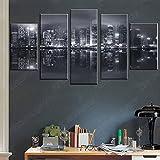 5 Stück Home Decoration Leinwand Malerei Hong Kong Skyline