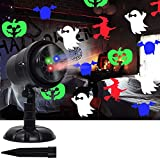 Twinkle Star Halloween Decorations Light Projector with 3 Switchable Lenses Elements Pattern Multicolor Moving Lights, LED Landscape Spotlight Indoor Outdoor Holiday Party All Saints Day Decoration