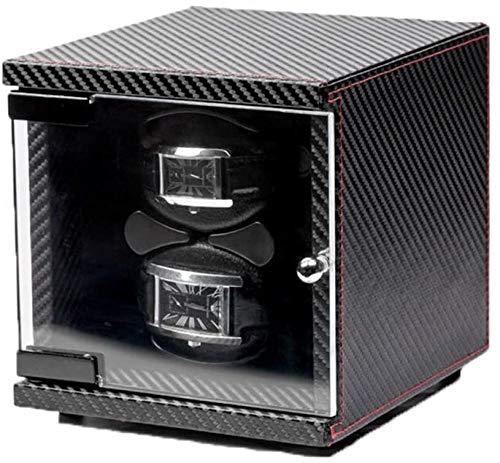 JWCN 2 + 0 relojes verticales automáticos de fibra de carbono, autoenrollable, caja de reloj mecánica con motor silencioso, adecuado para reloj de hombre y mujer.