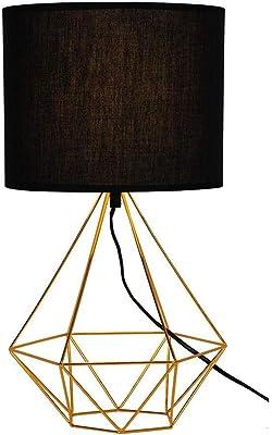 Luminária De Mesa Abajur Para Sala Quarto Metal Dourado