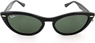 Women's RB4314N Nina Cat Eye Sunglasses, Black/Green, 54 mm