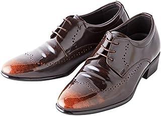 [カラダ快適研究所] 7cm背が高くなる シークレットシューズ ビジネスシューズ 紳士靴 内羽根 kk1-350