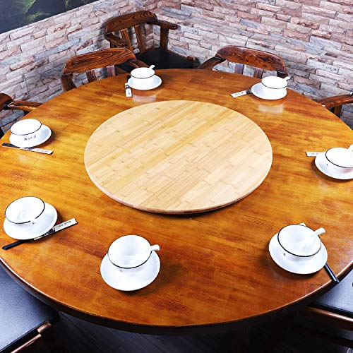 Large 30 inch Bamboo Lazy Susan Rotating Turntable Dining Table Top-Wooden Round Serving Wine Cheese and Meal Tray-Great for Board Games and Entertaining-Perfect Wedding and Home Gift