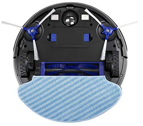 Rowenta RR6971 Smart Force Essential Aqua Saug- und Wischroboter, 2in1 Roboter-Staubsauger mit Wischfunktion, hohe Saugleistung auf allen Böden, bis zu 150 Minuten Laufzeit,  Schwarz/Dunkel blau - 3