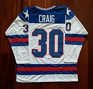 Jim Craig Autographed Signed Jersey (Size XL) Team Usa Beckett
