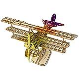 Rolife 立体パズル色付き可能(顔料含めない) 木製 3dパズル 大人向けパズル 暇つぶしキット 知育玩具 プレゼント (飛行機)