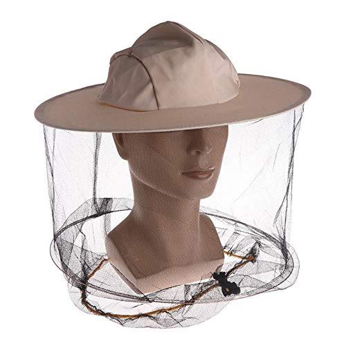 LQKYWNA Chapeau Et Voile d'Apiculteur Professionnel,Chapeau en Denim Apiculteur avec Filet Anti-Insectes Anti-Moustiques, Protection IntéGrale pour Le Cou