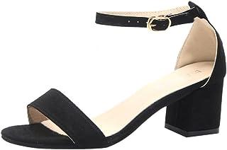 4014ddb2 Zapatos de Tacón Altas Ancho para Mujer Verano 2018 PAOLIAN Fiesta Zapatos  de Plataforma de Boca