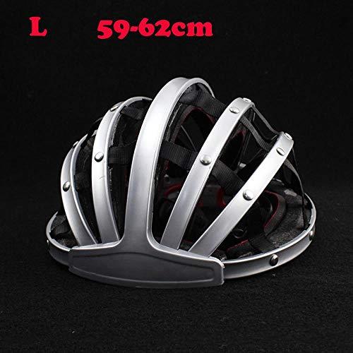 LIUDATOU Casco casco da ciclismo pieghevole Casco da bici da strada Casco da bicicletta unisex per adulto Mountain SilverL