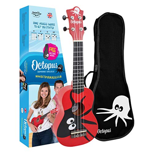 Ukelele soprano, color rojo UK200-KAR, de Octopus