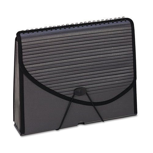 Pendaflex 01121-13-Pocket Expanding Spiral File, Letter, Foam Poly, Smoke