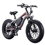 AINY Eléctrica De Bicicletas De Montaña 36V10ah 250W Adultos De 26 Pulgadas Completas Bicicletas Suspensión De Horquillas, 21 Velocidades Doble Amortiguador Plegable E-Bici, Negro