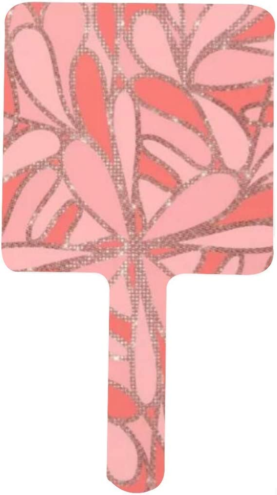 Girly Artsy Modern Washington Mall Coral Pink Abstract Mirr Glitter Hand Geo Art Max 77% OFF