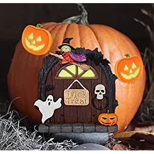 halloween decorations for kids room wall and trees outdoor cute witch garden door with halloween jack o lanterns for halloween decoration outdoor