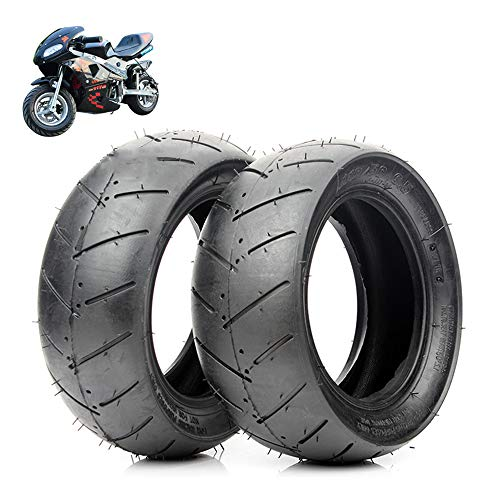 Neumáticos Scooter eléctrico, 90/65-6.5/110/50-6.5 neumáticos de vacío, resistente al desgaste y antideslizante, Adecuado para 49cc de autos deportivos pequeños/mini motocicletas neumáticos,90/65 6.5