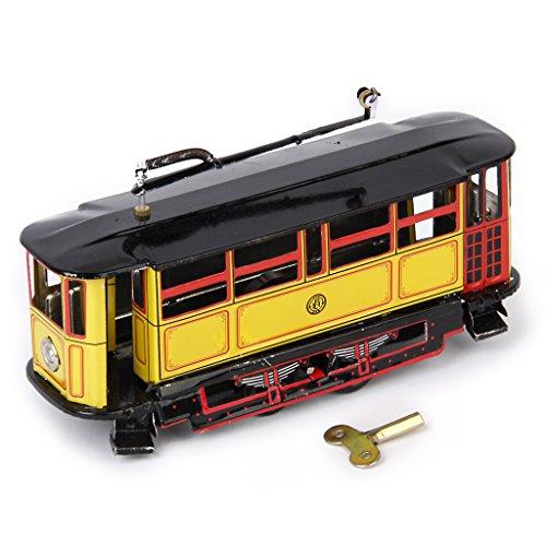 IPOTCH Vintage Tranvia Tram Trolley Modelo Tin Juguete Tranvía Niños Recogida de Regalos de época, Juguete de Hojalata