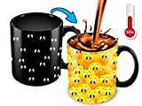 Color Changing Mug | 11 Oz Ceramic Heat Changing Mug With Funny Yellow Cartoon Smiley Faces | Funny Mug For...