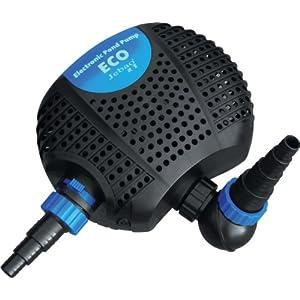 Jebao OME 8000 Eco Bomba de Filtración Sumergible para Estanques y Jardines de Agua 8000L/H, 2 entradas.