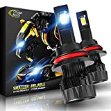 Cougar Motor X-Small 9007 LED Headlight Bulb, 10000Lm 6500K (Hi/Lo) All-in-One Conversion Kit - Cool White CREE, 360°Adjustable Beam
