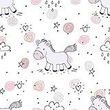 decomonkey Fototapete Kinder Kinderzimmer | Tapetenrolle 10 m Tapete Vliestapete Deko Panel Modern Design Wanddeko Wandtapete | Pony Pferd