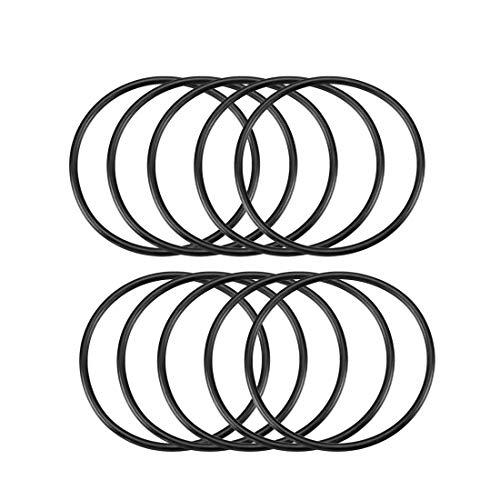 10 Stück 3 mm x 68 mm Gummidichtung Ölfilter O-Ringe Dichtungen Schwarz de